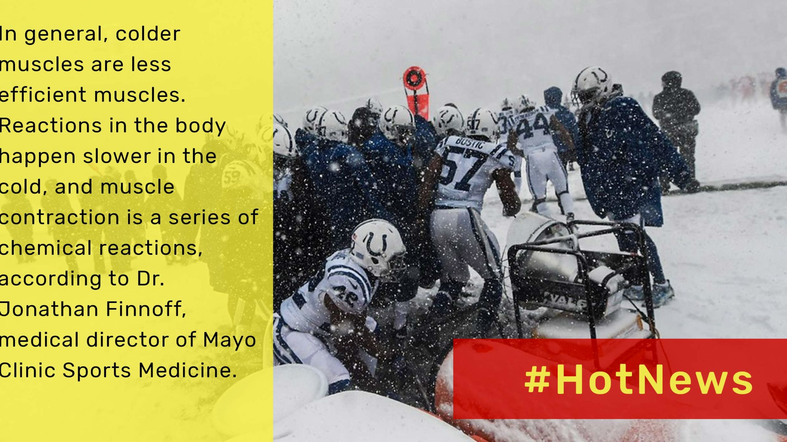How cold weather changes the game for football players